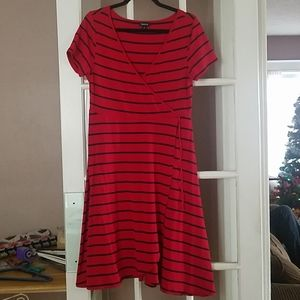 Torrid size 0 red and blue wrap dress